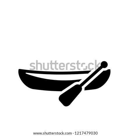 dugout canoe icon. Trendy dugout canoe logo concept on white background from Transportation collection. Suitable for use on web apps, mobile apps and print media.