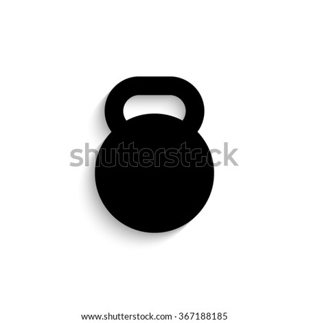 dumb bell   black vector  icon