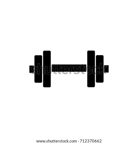 Dumbbell for gym icon , black sign design