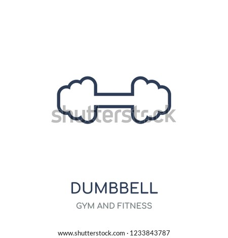 Dumbbell icon. Dumbbell linear symbol design from Gym and Fitness collection. Simple outline element vector illustration on white background