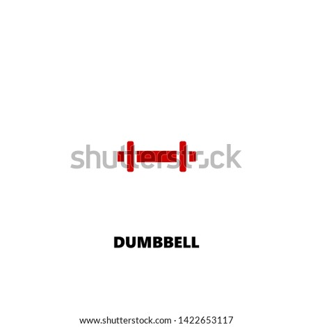 dumbbell icon. dumbbell vector design. sign design. red color