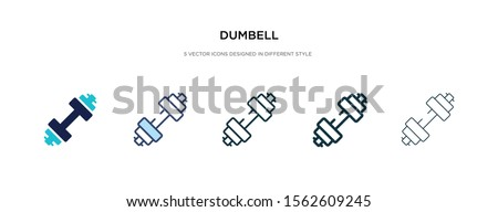 dumbbell icon in different style vector illustration. two colored and black dumbbell vector icons designed in filled, outline, line and stroke style can be used for web, mobile, ui