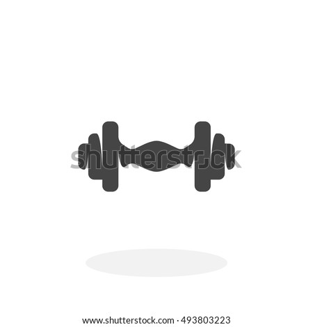 Dumbbell icon on white background. Dumbbell vector logo. Sports Equipment. Flat design style. Modern vector pictogram for web graphics - stock vector