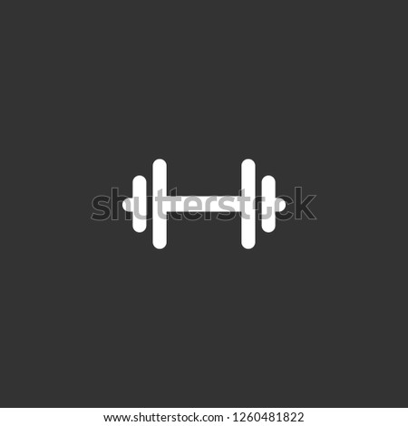 dumbbell icon vector. dumbbell sign on black background. dumbbell icon for web and app