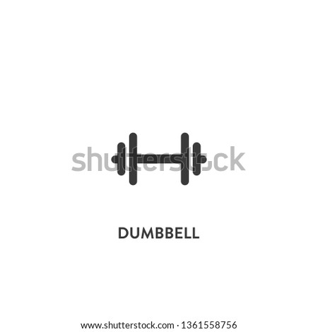 dumbbell icon vector. dumbbell sign on white background. dumbbell icon for web and app