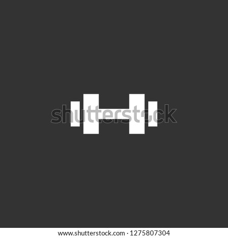 dumbbell icon vector. dumbbell vector graphic illustration