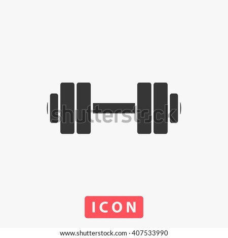 dumbbell Icon Vector. Simple flat symbol. Illustration pictogram