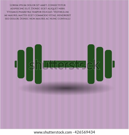 dumbbell icon vector symbol flat eps jpg app web concept website