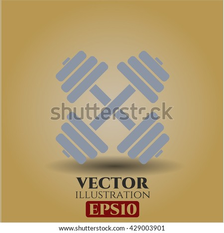 dumbbell icon vector symbol flat eps jpg app web concept website