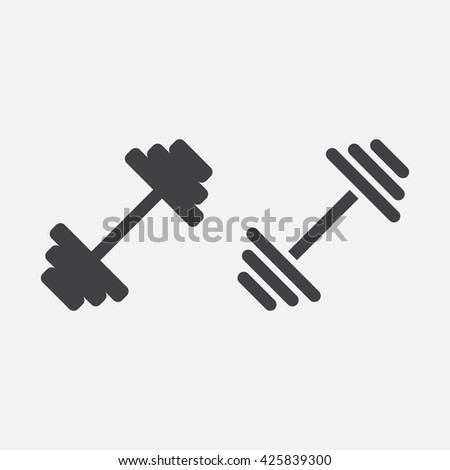 dumbbell line icon, outline and solid vector logo, linear pictogram isolated on white, pixel perfect illustration