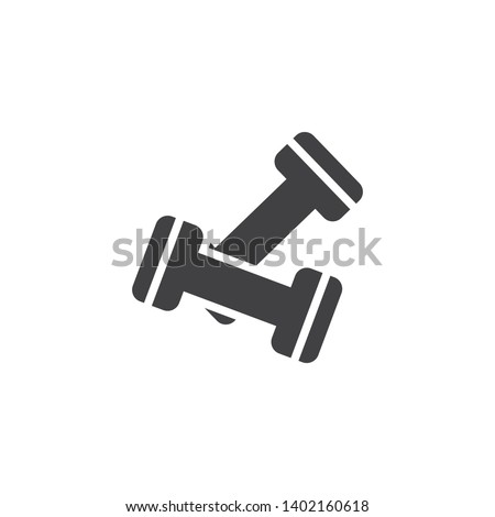 Dumbbell pair vector icon. Gym equipment filled flat sign for mobile concept and web design. Fitness dumbbells glyph icon. Sport symbol, logo illustration. Pixel perfect vector graphics
