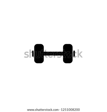 dumbbell vector icon. dumbbell sign on white background. dumbbell icon for web and app