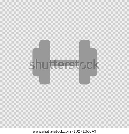 Dumbbell vector icon eps 10. Simple isolated symbol logo.