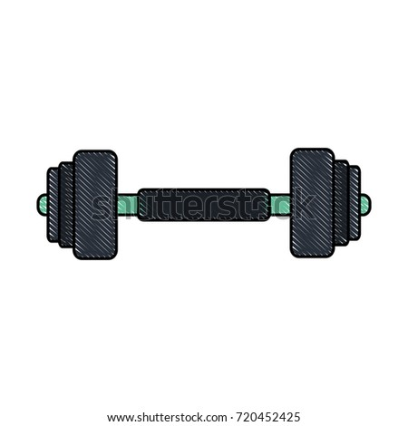 Dumbbell weight symbol