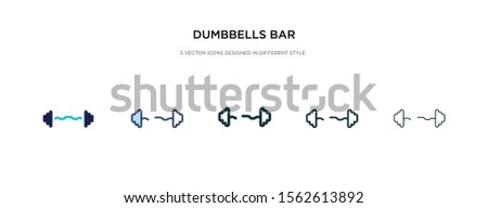 dumbbells bar icon in different style vector illustration. two colored and black dumbbells bar vector icons designed in filled, outline, line and stroke style can be used for web, mobile, ui