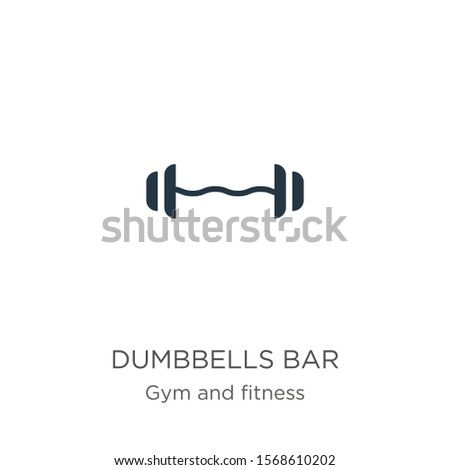 Dumbbells bar icon vector. Trendy flat dumbbells bar icon from gym and fitness collection isolated on white background. Vector illustration can be used for web and mobile graphic design, logo, eps10