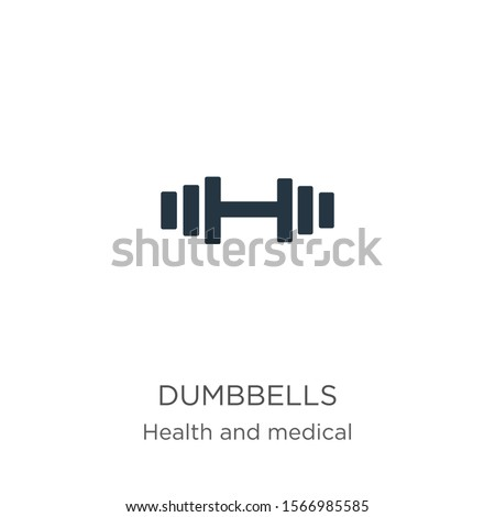 Dumbbells icon vector. Trendy flat dumbbells icon from health collection isolated on white background. Vector illustration can be used for web and mobile graphic design, logo, eps10