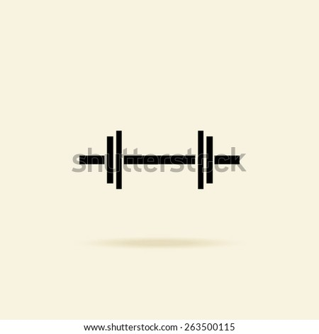 dumbbells - vector icon