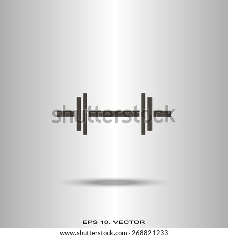 dumbbells - vector icon