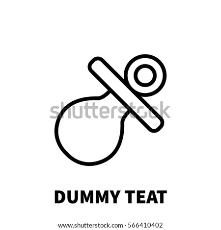 dummy teat icon or logo in