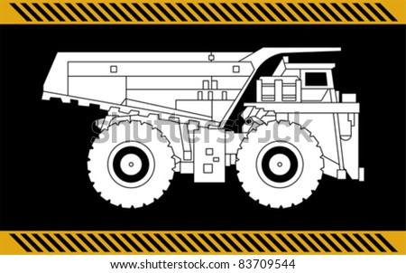 Dump truck construction machinery equipment isolated