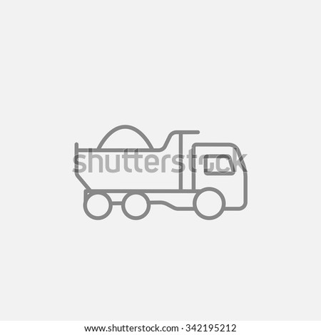 dump truck line icon for web