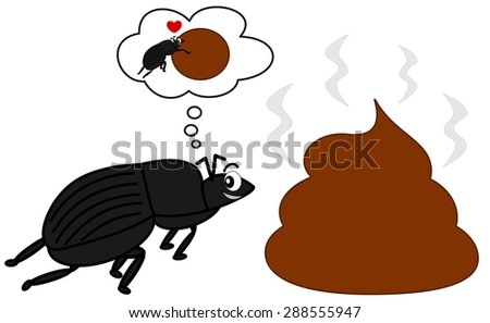 dung beetle and the big poop