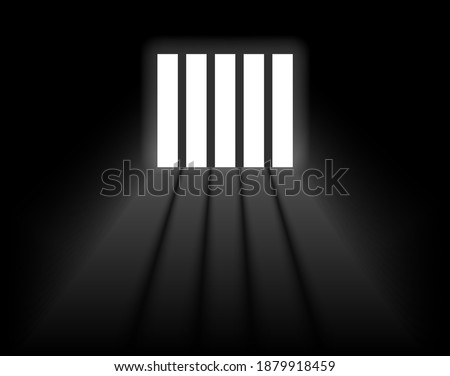 Dungeon prison window background. Jail cell empty window light justice crime prison Stock photo ©