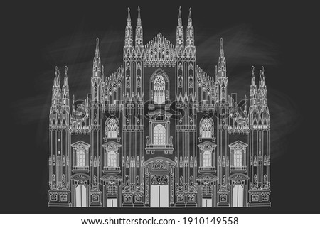 duomo cathedral in milan  italy