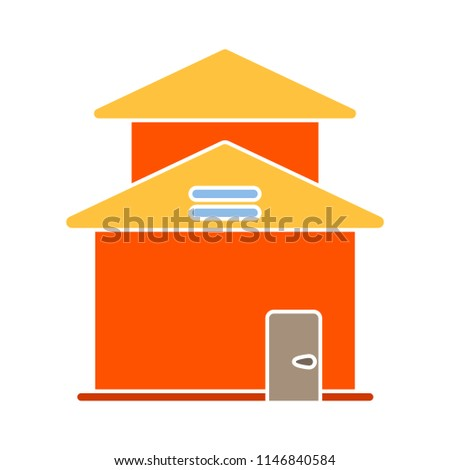 Duplex house flat icon. Real estate object, Duplex isolated on white background for your web and mobile app design, Duplex logo concept