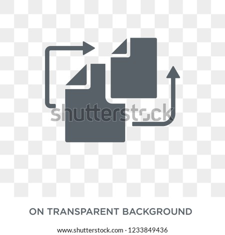 Duplicate icon. Trendy flat vector Duplicate icon on transparent background from Programming collection.