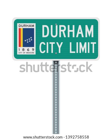 Durham City Limit road sign