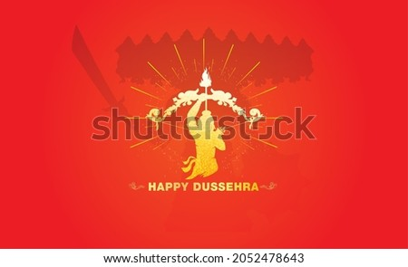 Dussehra vijayadashami festival concept with ram and ravan fighting
