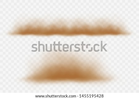 Dust cloud and sandstorm vector.