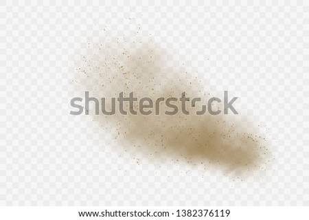 Dust cloud vector on transparent background.