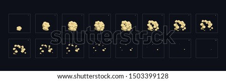 dust explosion effect. dust explosion animation. dust animation sprite sheet for games, cartoon or animation.