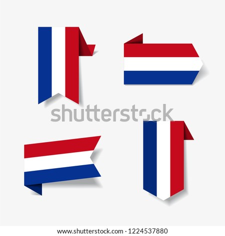 dutch flag stickers and labels