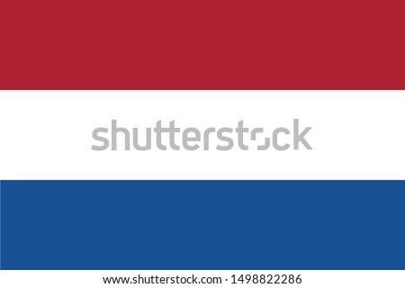 dutch netherland flag with
