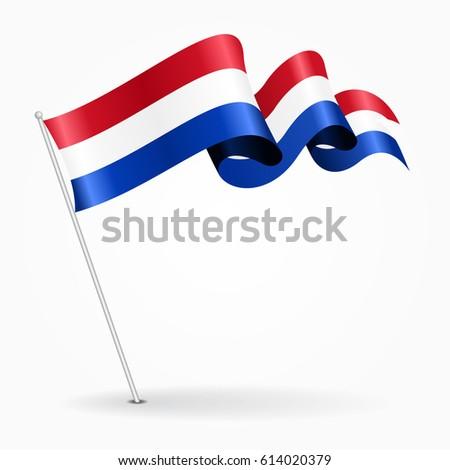 dutch pin icon wavy flag