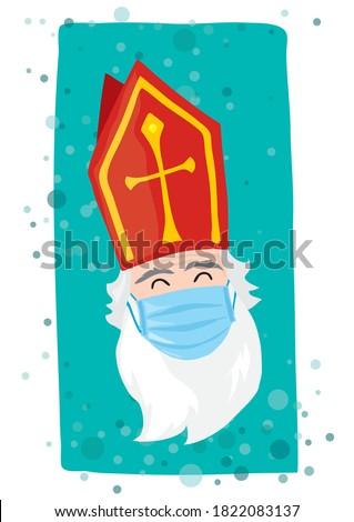 Dutch Saint Nicolaas Covid Mask  protection celebration
