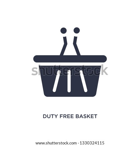 duty free basket icon. Simple element illustration from airport terminal concept. duty free basket editable symbol design on white background. Can be use for web and mobile.