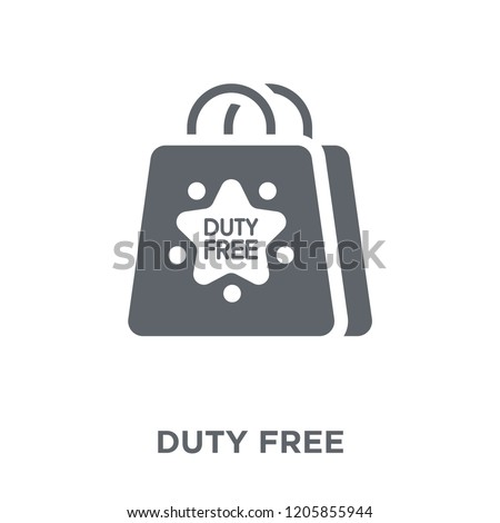 Duty free icon. Duty free design concept from Delivery and logistic collection. Simple element vector illustration on white background.