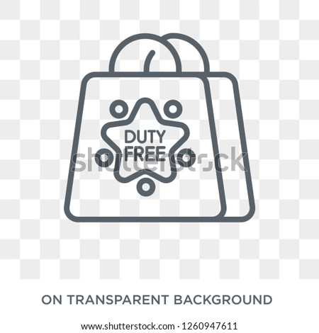 Duty free icon. Duty free design concept from Delivery and logistic collection. Simple element vector illustration on transparent background.