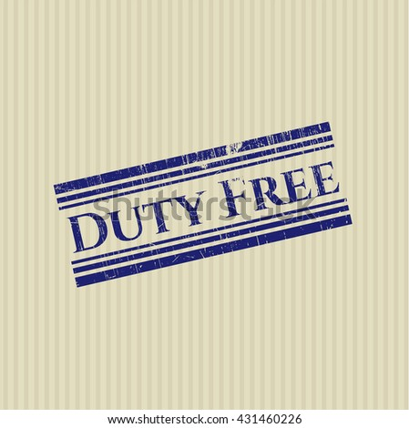 Duty Free rubber grunge texture stamp