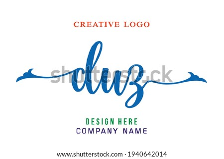 DUZ lettering logo is simple, easy to understand and authoritative Stok fotoğraf ©