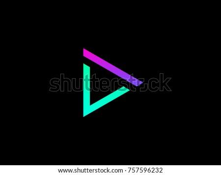 dv letter logo creative emblem