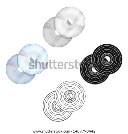 DVD discs.Making movie single icon in cartoon,black style vector symbol stock illustration web.