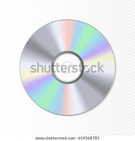DVD or CD disc. Blue-ray technology vector illustration. Music sound data.