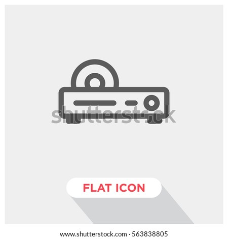 Dvd player vector icon, cd player