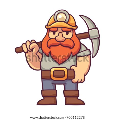 dwarf miner in comic style